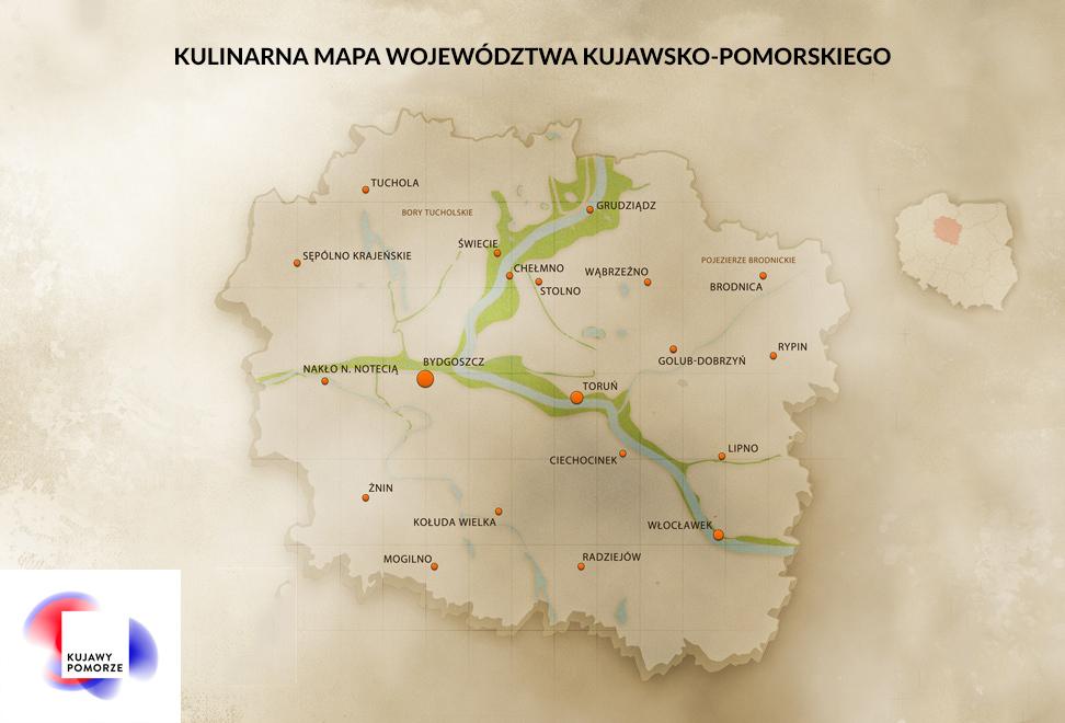 Kulinarna Mapa Wojewodztwa Kujawsko Pomorskiego Czas Na Gesine